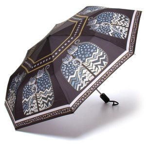 Accessories - Laurel Burch Polka Dot Gatos Compact Umbrella